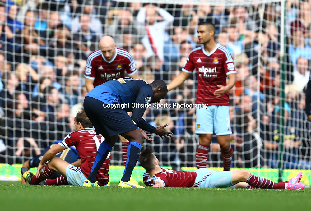 25 October 2014 - Barclays Premier League - West Ham v Manchester City - Yaya Toure of Manchester City reacts in frustration after seeing a shot his the post - Photo: Marc Atkins / Offside.