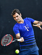 Roger Federer during practise at the Mercedes Cup at Tennisclub Weissenhof, Stuttgart<br /> Picture by EXPA Pictures/Focus Images Ltd 07814482222<br /> 06/06/2016<br /> *** UK & IRELAND ONLY ***<br /> EXPA-EIB-160607-0005.jpg