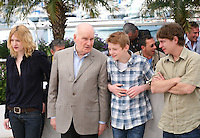 Christa Theret, Michel Bouquet, Thomas Doret, Vincent Rottiers at the Renoir photocall at the 65th Cannes Film Festival France. Saturday 26th May 2012 in Cannes Film Festival, France.