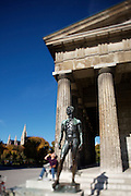 The Theseustempel at Volksgarten. Viennese enjoying the warm October sun.