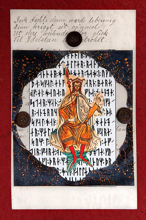 Collage Ilustration deutsche-sprachige literatur Ausgabe