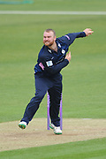 Paul Stirling of Middlesex bowling during the Royal London One Day Cup match between Hampshire County Cricket Club and Middlesex County Cricket Club at the Ageas Bowl, Southampton, United Kingdom on 23 April 2019.