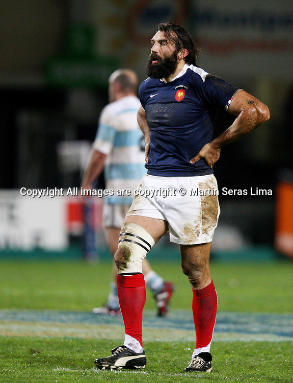 Sebastien Chabal at France v Argentina - Stade de la Mosson - Montpellier 20 November 2010 Photo: Martin Seras Lima