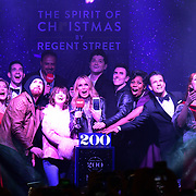 Celebrities at Regent Street Christmas Lights switch-on celebrate its 200th anniversary on 14 November 2019, London, UK.