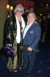 Comedian RONNIE CORBETT and his wife at an after show party following the opening night of Acorn Antiques - The Musical at The Theatre Royal, Haymarket and held at The Cafe de Paris, Coventry Street, London on 10th February 2005.<br /><br />NON EXCLUSIVE - WORLD RIGHTS