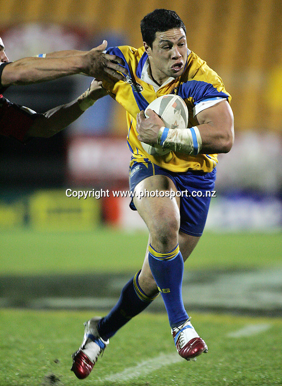 Wayne McDade in action during the Bartercard Cup Final rugby league match between the Mt. Albert Lions and the Canterbury Bulls at Mt. Smart Stadium, Auckland, New Zealand on Monday 18 September, 2006. Photo: Andrew Cornaga/PHOTOSPORT<br />