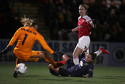 Arsenal Women's Vivianne Miedema (right) scores the opening goal