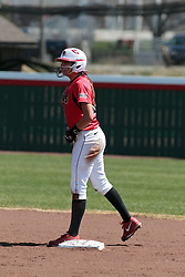 19 April 2014:  Laura Canopy during an NCAA women's softball game between the Evansville Purple Aces and the Illinois State Redbirds on Marian Kneer Field in Normal IL
