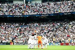 13.05.2015, Estadio Santiago Bernabeu, Madrid, ESP, UEFA CL, Real Madrid vs Juventus Turin, Halbfinale, Rückspiel, im Bild Real Madrid's players // during the UEFA Champions League semi finals 2nd Leg match between Real Madrid CF and Juventus FC at the Estadio Santiago Bernabeu in Madrid, Spain on 2015/05/13. EXPA Pictures © 2015, PhotoCredit: EXPA/ Alterphotos/ Acero<br /> <br /> *****ATTENTION - OUT of ESP, SUI*****