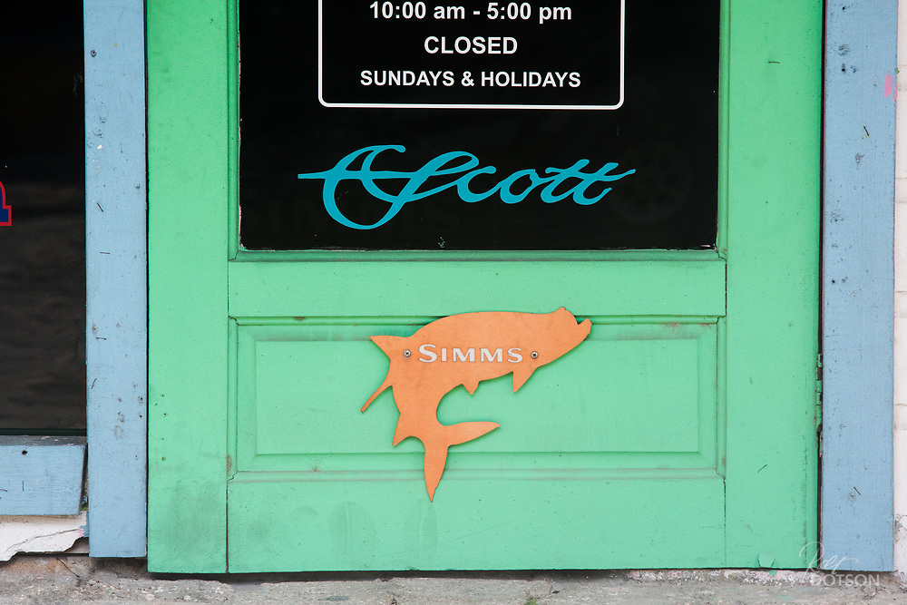 The local fly shop in San Pedro is open six days a week.