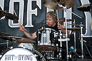 Art of Dying performing at the First Niagara Pavilion in Burgettstown, PA on the 2011 Uproar Tour on September 16, 2011