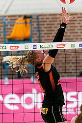 26-10-2019 NED: Dros Alterno - Set Up 65, Apeldoorn<br /> Round 4 of Eredivisie volleyball - Wies Bekhuis #14 of Set Up