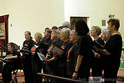 The Working Voices Choir performing inside St Mathews Church, as part of the 2018 Guildford Songfest.