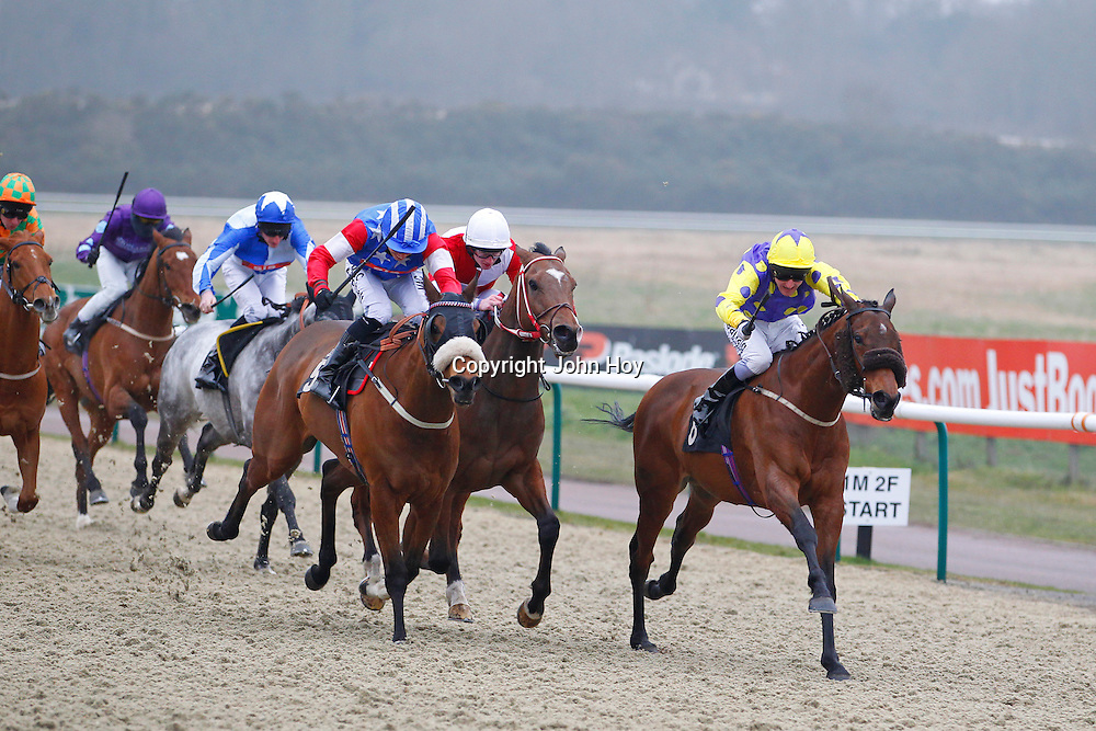 Indian Violet and L P Keniry winning the 3.10 race