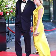 NLD/Amsterdam/20110527 - 40ste verjaardag Prinses Maxima, Reinout Oerlemans en partner Danielle Overgaag