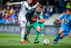27.04.2019, Cashpoint Arena, Altach, AUT, 1. FBL, Cashpoint SCR Altach vs FC Wacker Innsbruck, Qualifikationsgruppe, 28. Spieltag, im Bild Zlatko Dedic (FC Wacker Innsbruck) und Martin Kobras (SCR Altach) // during the tipico Bundesliga qualification group, 28th round match between Cashpoint SCR Altach and FC Wacker Innsbruck at the Cashpoint Arena in Altach, Austria on 2019/04/27. EXPA Pictures © 2019, PhotoCredit: EXPA/ Peter Rinderer