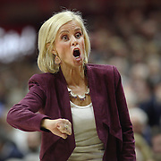 STORRS, CONNECTICUT- NOVEMBER 17: Baylor Head coach Kim Mulkey on the sideline during her sides loss during the UConn Huskies Vs Baylor Bears NCAA Women's Basketball game at Gampel Pavilion, on November 17th, 2016 in Storrs, Connecticut. (Photo by Tim Clayton/Corbis via Getty Images)