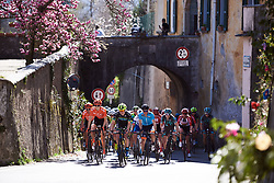 The leaders approach at Trofeo Alfredo Binda 2019, a 131.1 km road race from Taino to Cittiglio, Italy on March 24, 2019. Photo by Sean Robinson/velofocus.com