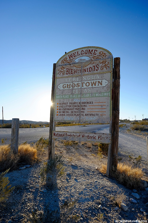 Terlingua Ghost Town sign, Texas