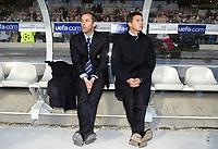 Fotball<br /> Kvartfinale Champions League<br /> Lyon v Porto<br /> 7. april 2004<br /> Foto: Digitalsport<br /> Norway Only<br /> <br /> PAUL LE GUEN (LYON COACH) / YVES COLLEU (LYON ASSISTANT COACH)<br /> <br />  *** Local Caption *** 40001110