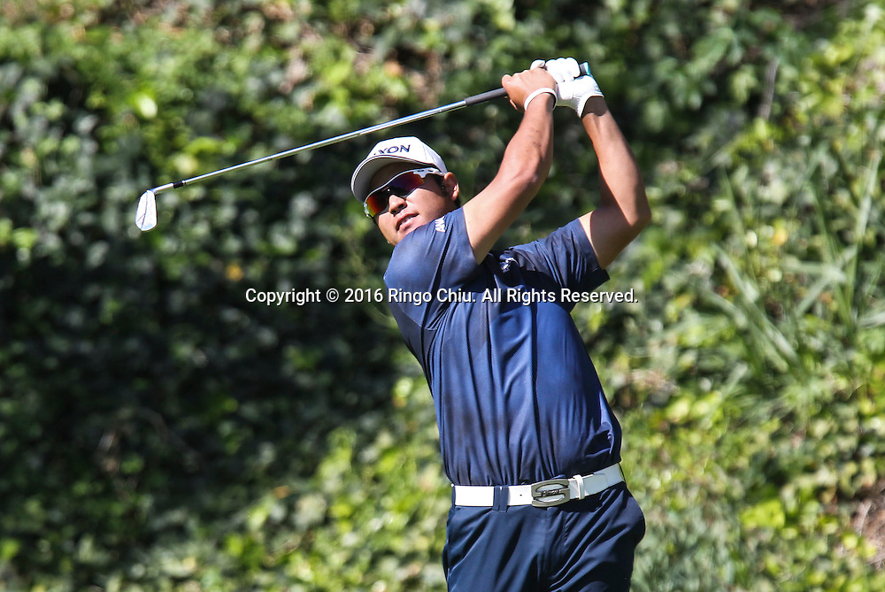 Hideki Matsuyama plays in the Final Round of the Northern Trust Open at the Riviera Country Club on February 21, 2016, in Los Angeles,(Photo by Ringo Chiu/PHOTOFORMULA.com)<br /> <br /> Usage Notes: This content is intended for editorial use only. For other uses, additional clearances may be required.