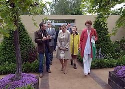 © Licensed to London News Pictures. 02/07/2012. East Molesey, UK HRH Sophie Countess of Wessex (C) . The RHS Hampton Court Palace Flower Show 2012. The show runs 3-8 July, 2012. Photo credit : Stephen Simpson/LNP