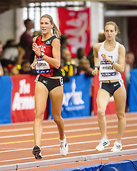 Millrose Games: womens Mile Walk, Seaman leads Michta