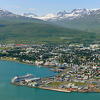 Akureyri harbour, viewing southwest.