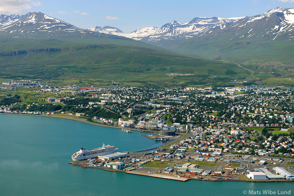 Akureyri harbour, viewing southwest.