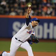 Pitcher Matt Harvey, New York Mets, in action during the New York Mets Vs Philadelphia Phillies MLB regular season baseball game at Citi Field, Queens, New York. USA. 14th April 2015. Photo Tim Clayton