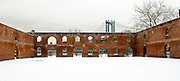 Remains of the Old Tobacco Warehouse covered with snow, DUMBO, Brooklyn, New York, 2008.