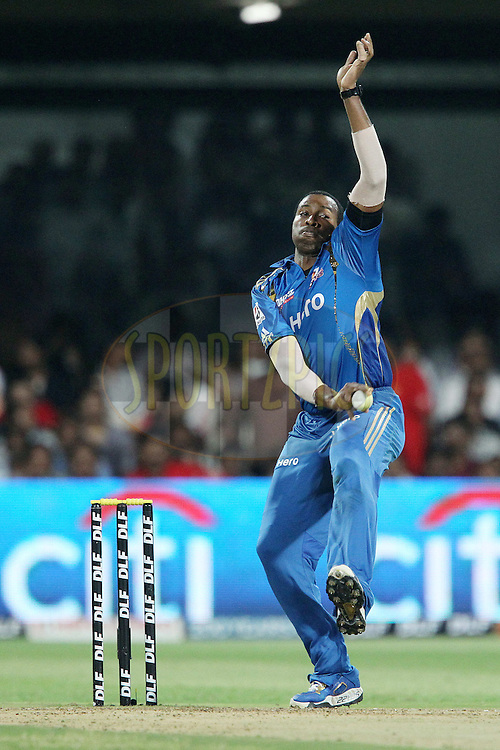Kieron Pollard during The IPL 2012, Season 5, eliminator match between The Mumbai Indians and The Chennai Superkings held at the M. Chinnaswamy Stadium, Bengaluru on the 23rd May 2012..Photo by Ron Gaunt/IPL/SPORTZPICS