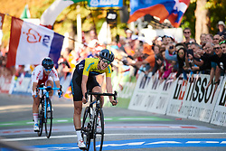 Emilia Fahlin (SWE) with a fourth place finish at UCI Road World Championships 2018 - Elite Women's Road Race, a 156.2 km road race in Innsbruck, Austria on September 29, 2018. Photo by Sean Robinson/velofocus.com