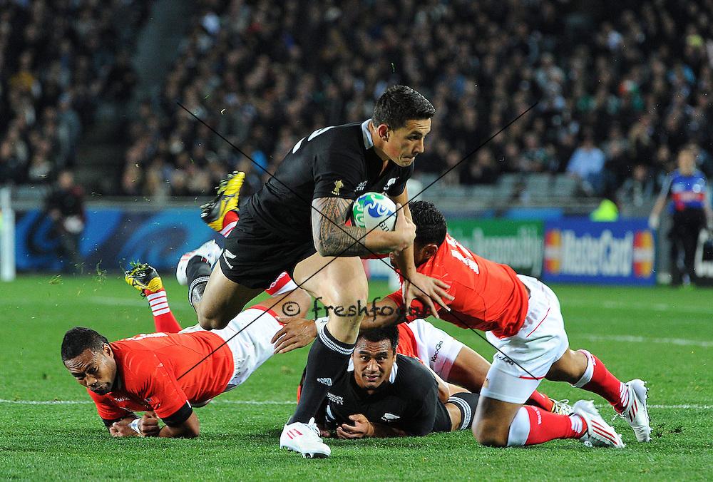 09.Sep.2011; Auckland; Rugby - Neuseeland - Tonga - WM 2011;<br />Sonny Bill Williams (Neuseeland) (Alain Mounic/Presse Sport/freshfocus)