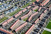 Nederland, Noord-Holland, Zaanstad, 20-04-2015; Noordpolder met de nieuwe woonwijk Saendelft, tussen Assendelft en Krommenie. Bouwblokken.<br /> Newly developed residential area, Zaanstad. <br /> luchtfoto (toeslag op standard tarieven);<br /> aerial photo (additional fee required);<br /> copyright foto/photo Siebe Swart
