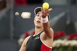 May 8, 2018 - Madrid, Spain - Spanish Garbine Muguruza during Mutua Madrid Open 2018 at Caja Magica in Madrid, Spain. May 09, 2018. (Credit Image: © Coolmedia/NurPhoto via ZUMA Press)