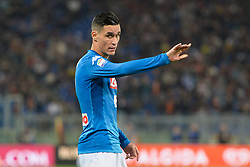 October 14, 2017 - Rome, Italy - Jose Maria Callejon during the Italian Serie A football match between A.S. Roma and S.S.C. Napoli at the Olympic Stadium in Rome, on october 14, 2017. (Credit Image: © Silvia Lor/Pacific Press via ZUMA Wire)