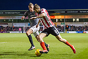 Lincoln City Forward Ollie Palmer in action during the EFL Sky Bet League 2 match between Lincoln City and Coventry City at Sincil Bank, Lincoln, United Kingdom on 18 November 2017. Photo by Craig Zadoroznyj.