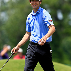 2009 April 26: Michael Letzig of Kansas City, MO smiles after sinking a putt on 17th hole during the final round of the Zurich Classic of New Orleans PGA Tour golf tournament played at TPC Louisiana in Avondale, Louisiana.