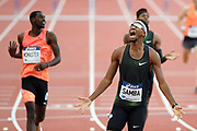 Abderrahman Samba competes and wins in 400m hurdels during the Meeting de Paris 2018, Diamond League, at Charlety Stadium, in Paris, France, on June 30, 2018 - Photo Philippe Millereau / KMSP / ProSportsImages / DPPI
