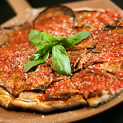 12/17/10 Wilmington DE: Eggplant Marino Pizza at Anthony's Coal Fired Pizzas in Wilmington Delaware.<br /> <br /> Special to The News Journal/SAQUAN STIMPSON
