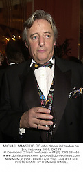MICHAEL MANSFIELD QC at a dinner in London on 2nd February 2001.OKZ 79
