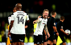 Johnny Russell of Derby County smiles after victory over Preston North End - Mandatory by-line: Robbie Stephenson/JMP - 15/08/2017 - FOOTBALL - Pride Park Stadium - Derby, England - Derby County v Preston North End - Sky Bet Championship