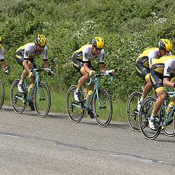 25-06-2016: Wielrennen: NK weg Profs: Ouddorp <br />OUDDORP (NED) wielrennen <br />Op het Zuid Hollandse eiland Goeree Overflakkee streden de profs om de Nederlandse titel. De Lotto-Jumbo trein op kop voor Groenewegen