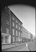 Interior & Exterior of South Leinster Street. (asbestos cement) <br /> 1970.<br /> 14.10.1970.<br /> 10.14.1970.<br /> 14th October 1970.<br /> The Interior and exterior of No 6 South Leinster House.<br /> <br /> Image shows the important exterior of the building.
