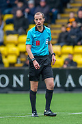 Referee Willie Collum during the Ladbrokes Scottish Premiership match between Livingston FC and Celtic FC at The Tony Macaroni Arena, Livingston, Scotland on 6 October 2019.