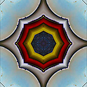 Computer ehanced abstract kaleidoscope of shapes and colors