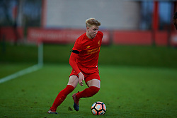 KIRKBY, ENGLAND - Friday, March 31, 2017: Liverpool's Luis Longstaff in action against West Ham United during an Under-18 FA Premier League Merit Group A match at the Kirkby Academy. (Pic by David Rawcliffe/Propaganda)