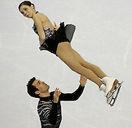 London, Ontario ---10-01-15--- Jessica Dube and Bryce Davison compete in the pairs short program at the 2010 BMO Canadian Figure Skating Championships in London, Ontario, January 15, 2010. .GEOFF ROBINS/Mundo Sport Images..