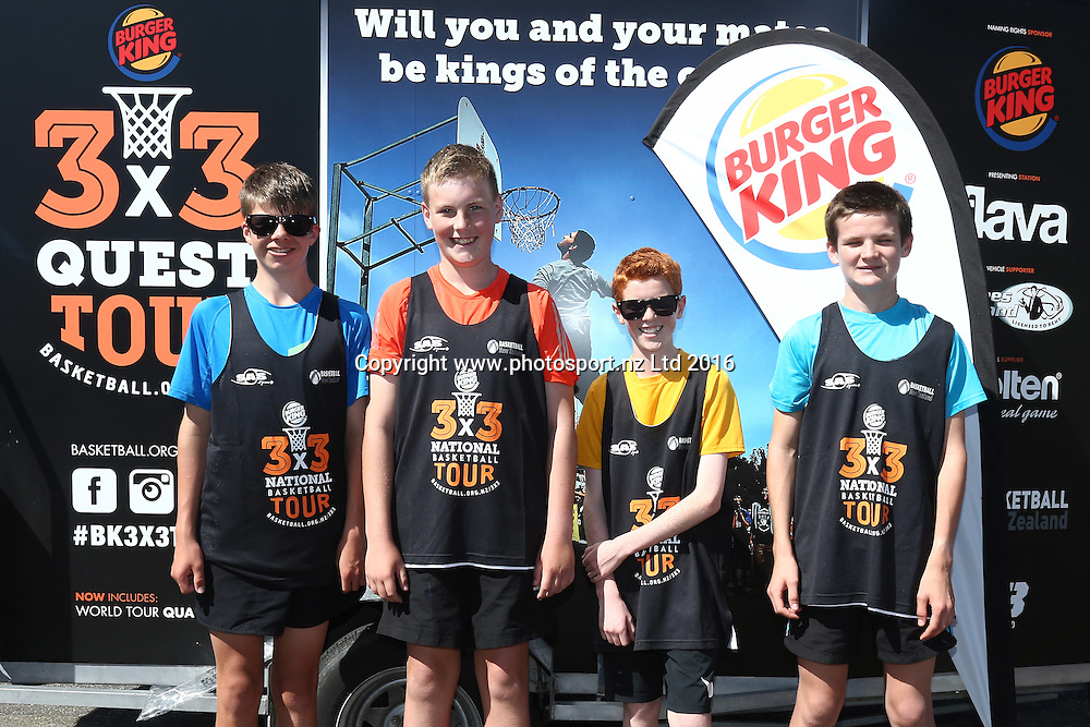 Burger King 3X3 Quest National Basketball Tour, ILT Stadium Southland Netball Courts, Invercargill, Monday, February 28, 2016. Photo: Dianne Manson / www.photosport.nz